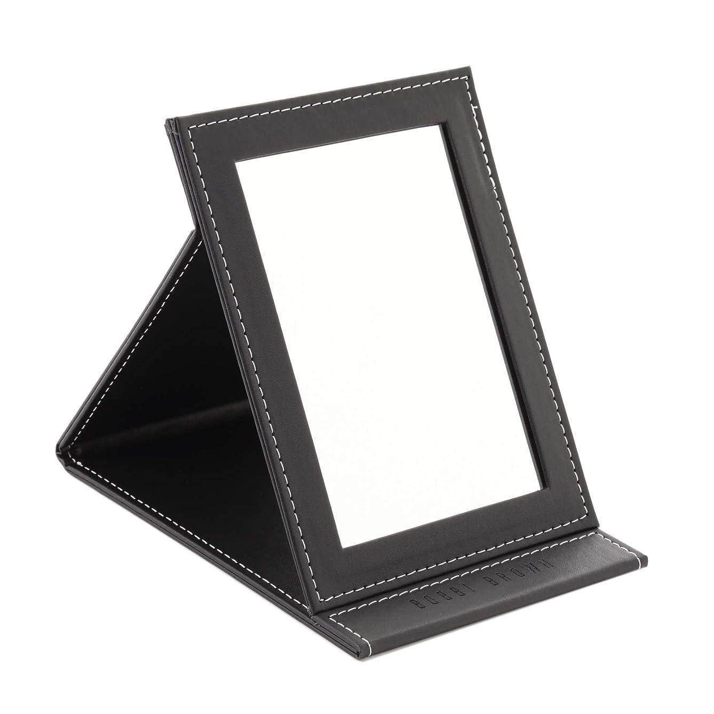 ブロックする大学生聞きます[スプレンノ] 折り畳みミラー 化粧鏡 スタンドミラー 角度調整 自由自在 外装PUレザー仕上げ (M)