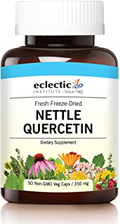Eclectic Nettles Quercetin Freeze Dried Vegetables with Glass, Blue, 50 Count
