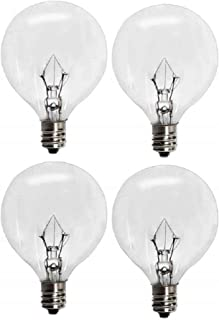 25 Watts G16.5 Replacement Light Bulbs for 25WLITE Scentsy Full Size Warmer, Candle Wax Melt Warmer and Globe Incandescent Lamps, Candelabra E12 Base Pack of 4