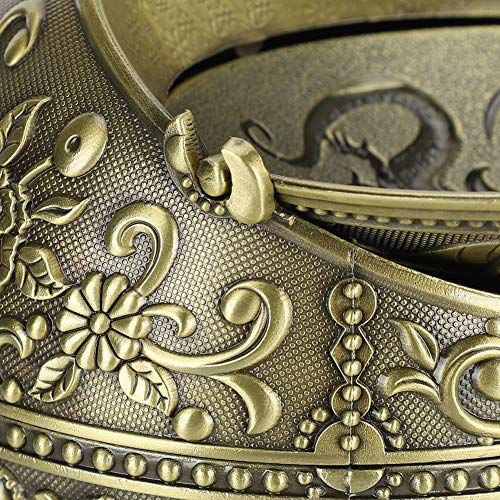 Gugxiom Cenicero de aleación de Zinc, Cenicero Vintage Aprox. 10cm / 3.9in (medición Manual de Referencia para: Uso doméstico, hoteles de Estrellas, Clubes de Alto Nivel, Regalos de Boda