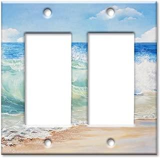 Art Plates Brand Double Gang Rocker Switch/Wall Plate - Beach Painting
