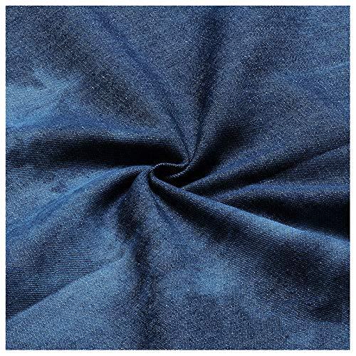 stretch stoff Denim-Stoff 100% Baumwolle Tie-Dye Schwarz Nicht Dehnbar Mitteldick Im Frühjahr Und Sommer Zum Nähen Von Jacken Jeans Westen Rucksäcken Verschiedenen Größe(Size:1.5M*4M,Color:Dunkelblau)