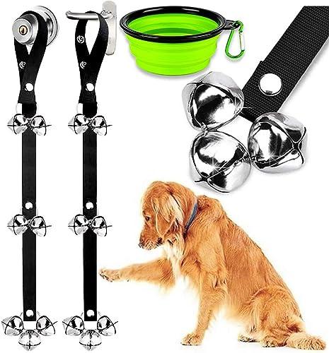 2 Pack Dog Doorbells Premium Quality Training Potty Great Dog Bells Adjustable Door Bell Dog Bells for Potty Training...