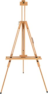 Marble Field Premium Portable Tripod Artist Easel, Easy to Adjust, Tilted Design for Easy Positioning Natural