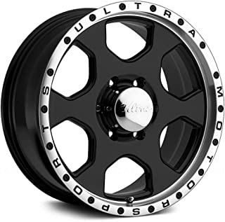 Ultra Wheel 175B Rogue Gloss Black with Diamond Cut Lip and Clear Coat Wheel with Painted Finish (17 x 8. inches /5 x 139 mm, 10 mm Offset)