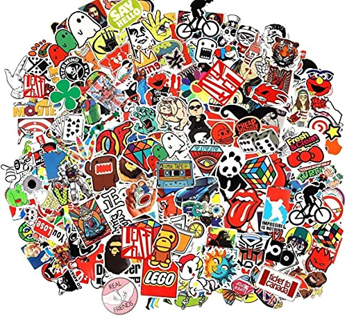 CHNLML Cool Sticker 55-905pcs Random Music Film Vinyl Skateboard Guitar Travel Case Sticker Door Laptop Luggage Car Bike Bicycle Stickers ( Random Pack) (105pcs)