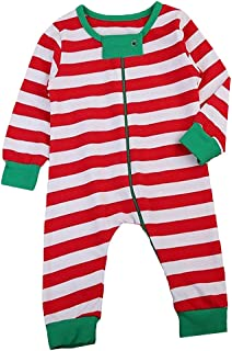 AR-LLOYD Unisex Baby Girl Boy Stripe Sleep & Play Set Long Sleeve Red and White Jumpsuit Onesies