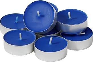 CandleNScent Colored Tea Light Candles   Unscented   Dark Blue   Made in USA (Pack of 30)