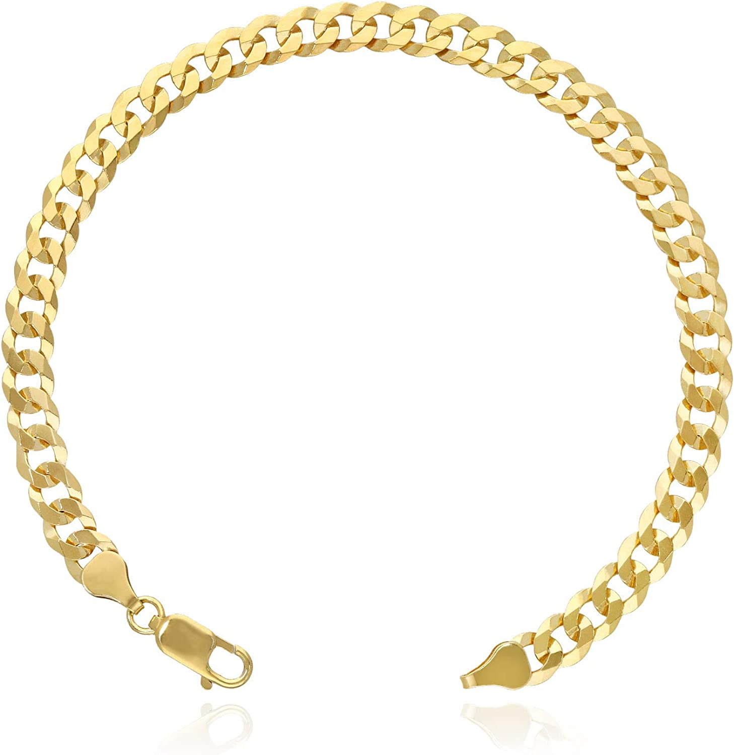 Yellow Gold Over 925 Challenge the lowest price Silver 6.5mm Polished San Antonio Mall High Brac Solid Cuban