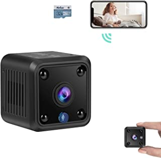 TeamMe Mini Spy Camera, WiFi Wireless Hidden Camera, HM206 1080P HD Small Home Security Camera with 32G SD Card, Night Vis...