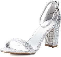 DREAM PAIRS Women's Chunk Low Heel Pump Sandals