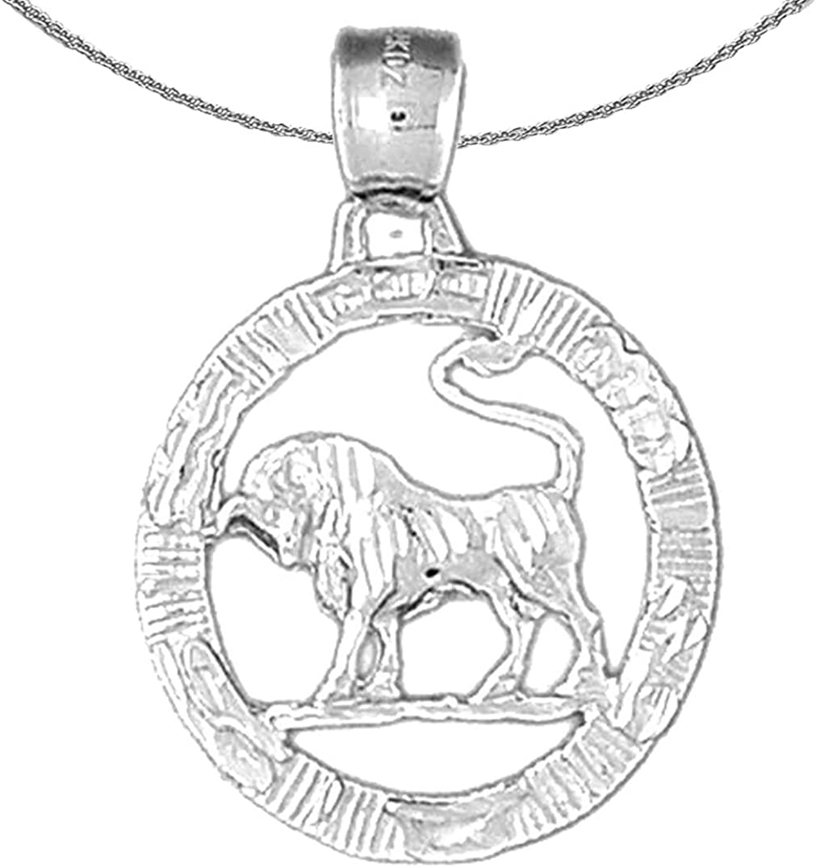 Ranking TOP20 Max 54% OFF Jewels Obsession Silver Zodiac - Rhodium-plate Taurus Necklace