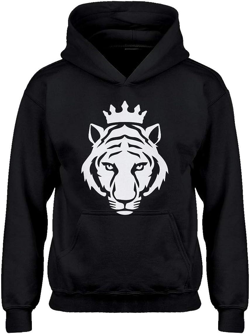 Kids Hoodie King Tiger Youth M - (8-10) Black Hoodie