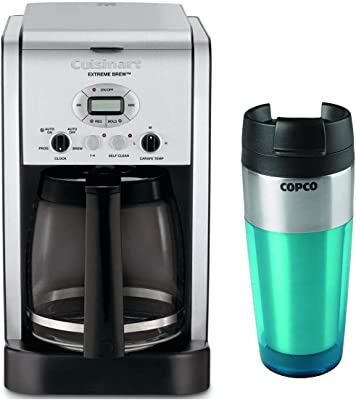 Cuisinart DCC-2650 Extreme Brew 12-Cup Programmable Coffeemaker with 16-Ounce Double Wall Stainless Steel Tumbler Bundle (2 Items)