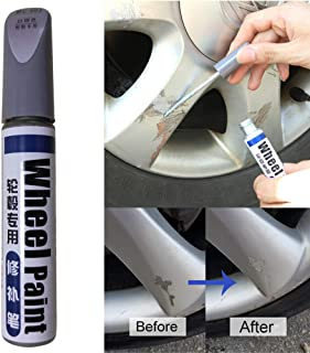 Car Wheel Scratch Remover Anti-rust Wheel Hub Paint Scratch Repair Whaterproof Car Wheel Scratch Repair Kit No Fade Auto Wheel Scratch Repair Paint Filler Car Wheel Scratch Remove (Silver for Wheel)