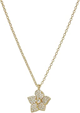 Blooming Pave Bloom Mini Pendant Necklace