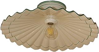 VANNI LAMPADARI - Lampada da Soffitto e da Parete Art.001/368 Piatto Plissè Diametro 40 in Ceramica Decorata in 5 Colori