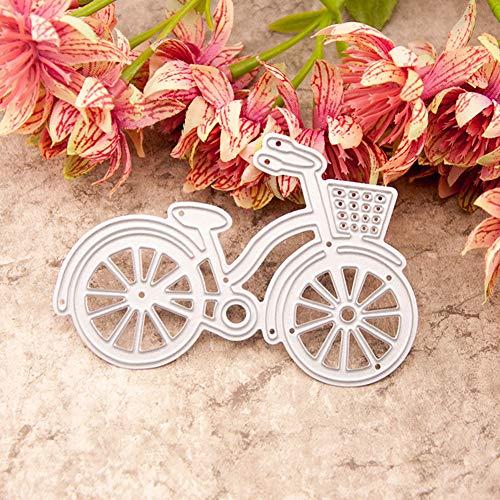 Litty089 - Fustelle da taglio per bicicletta, in metallo, per fai da te, scrapbooking, goffratura, cartoline e stencil, Colore unico, Argento