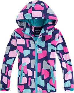 M2C Girls Floral Windbreaker Fleece Lined Jacket with Hood