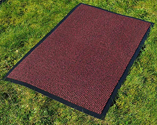 FB FunkyBuys tappeto per cucina, resistente, grande e piccolo, retro in gomma antiscivolo, tappeto per porta d'ingresso, disponibile in 4 colori e varie dimensioni, Red / Black, 60 x 180 cm