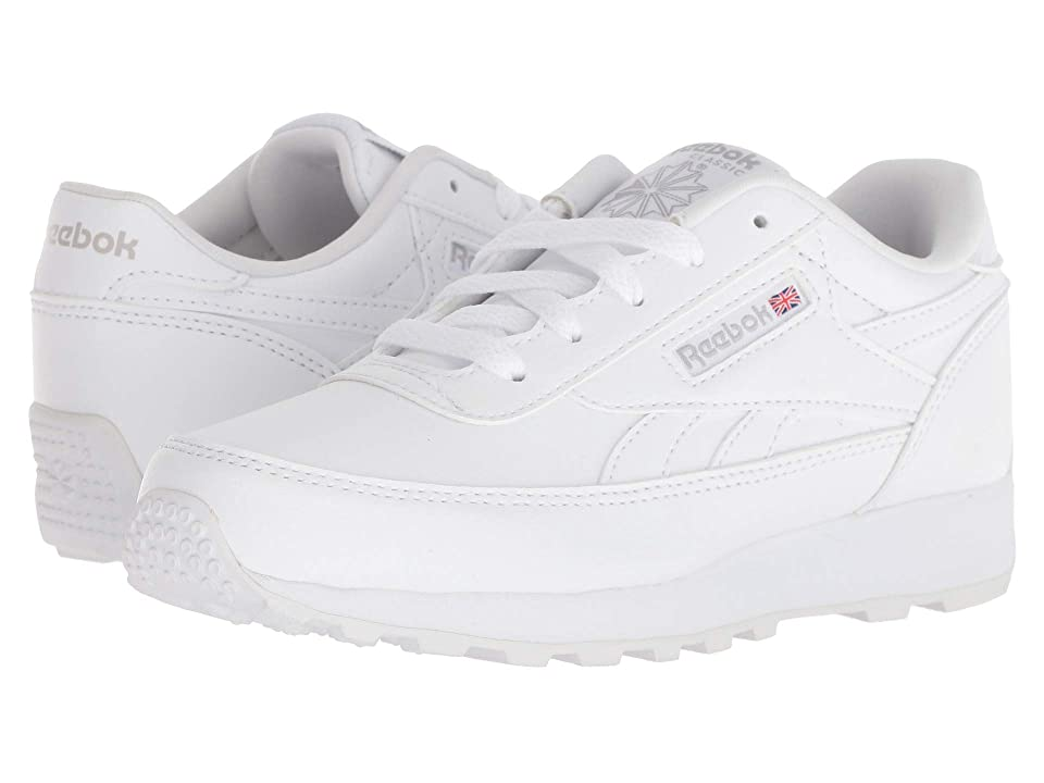 Reebok Kids CL Renaissance (Little Kid/Big Kid) (White/Steel) Kids Shoes