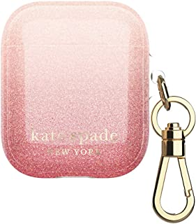 Kate Spade New York AirPods Case - Ombre Glitter Sunset/Pink Multi/Gold Foil Logo