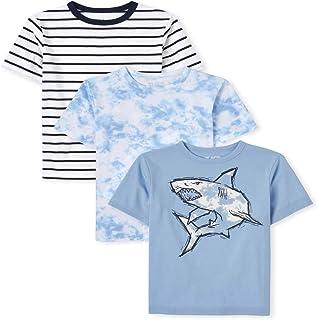 The Children's Place Boys Shark Top 3-Pack, Multi CLR