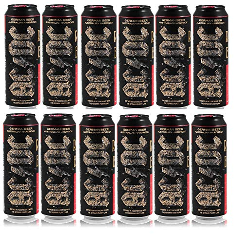12 Lattine Ac/Dc German Beer Australian Rock 0,568 l