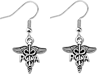 Silver Physician Assistant  Charm Earring PA Medical Earrings Physician Assistant Graduation Gift Medical Student Gift Personalized Gift