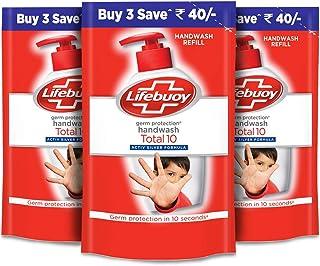 Lifebuoy Total 10 Activ Naturol Germ Protection Handwash Refill, 185 ml (Count of 3)