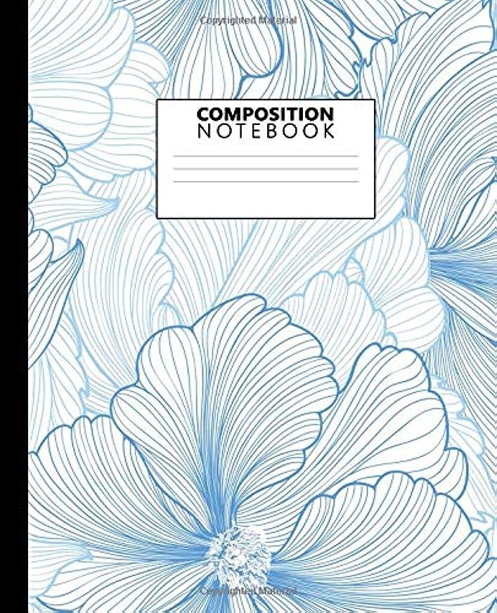 驚いたリズミカルなバルクComposition Notebook: Cute Gentle Peonies Floral College Ruled Notebook for Students, Kids and Teens. Pretty Medium Lined Blank Journal for School and College for Writing & Notes.