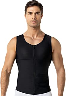 Leo Crew Neck Seamless Firm Compression Tank Shapewear for Men