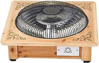 GYF Calefactor eléctrico Ahorro De Energía Calefactores Y Radiadores Halógenos Material Original De Madera Maciza Cubierta De Red Anti-escaldado Calentamiento Rápido Calefacción De 360 Grados El Ah