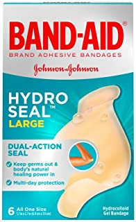 Band-Aid Hydro Seal, 6 Large Bandages Per Box (Pack of 4)