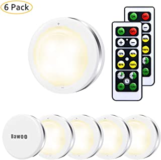 Luz Nocturna LED Luz de Noche Luz de Armario Inalámbrica LED Bawoo 6PCS Lámpara de Cocina LED 5 Perlas Lámpara Adhesiva In...