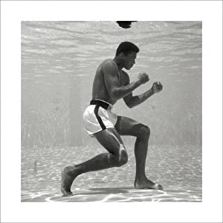 Pyramid America Muhammad Ali Underwater Boxing Sports Thick Cardstock Poster 16x16 inch