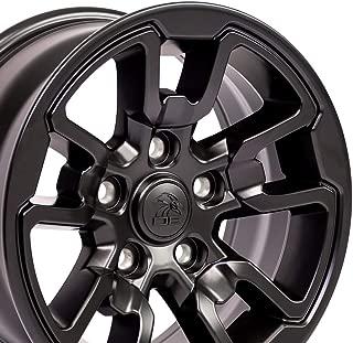OE Wheels 17 Inch Fits Dodge RAM 1500 Rebel Style DG55 Satin Black 17x8 Rim Hollander 2614