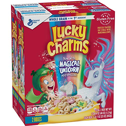 Lucky Charms with Magical Unicorn Marshmallows by General Mills, Family Size