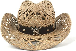 Unisex Cowboy Hat Wide Brim Sun Hat Natural Straw Hats Summer Beach Lifeguard Hats