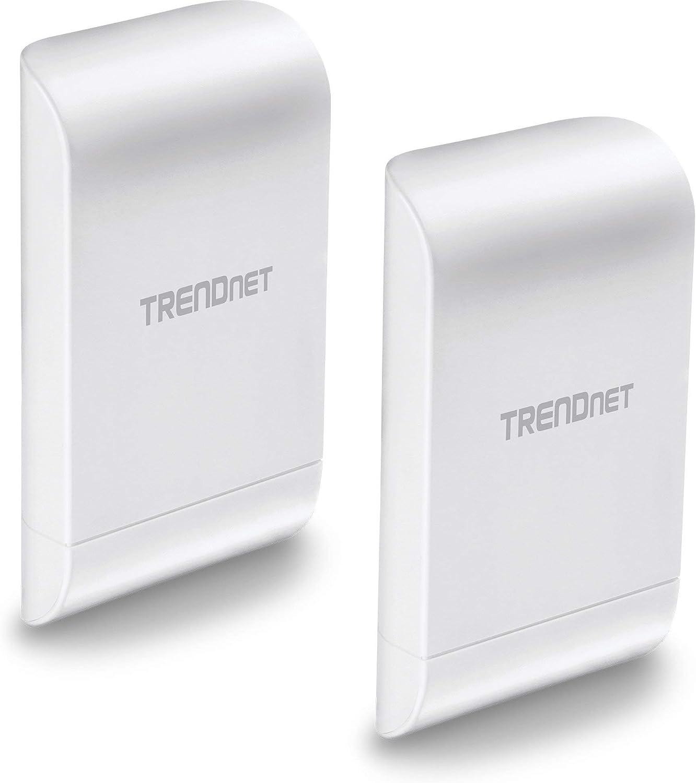 TRENDnet 10dBi Wireless N300 Outdoor PoE Preconfigured Point-to-Point Bridge Bundle Kit, 2 x Preconfigured Wireless N Access Points, IPX6 Rated Housing, TEW-740APBO2K (Renewed)