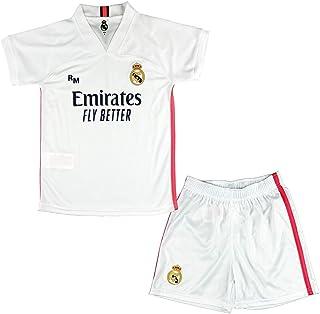 Real Madrid CF Conjunto Camiseta y Pantalón Infantil Primera Equipación Temporada 2020-21 - Producto Oficial Licenciado -C...