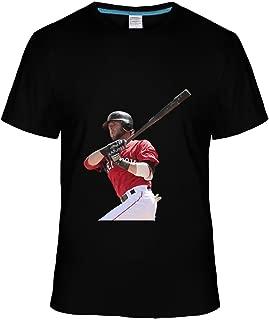 AX Dustin Pedroia Tshirts For Men L black