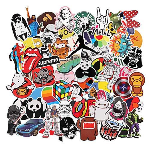 Paquete de Pegatinas [150-Pcs], Neuleben Graffiti Sticker Vinals Vinals para portátiles, niños, automóviles, Motocicletas, Bicicletas, monopatines, Etiquetas de Parachoques Bomba a Prueba de Agua