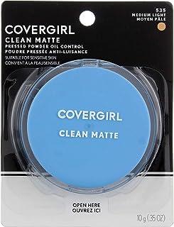 COVERGIRL Clean Matte Pressed Powder, Medium Light (Packaging May Vary)