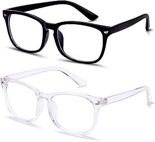 LOEO Blue Light Blocking Glasses, UV Filter Eyewear, Square Eyeglasses Frame, Anti Blue Ray Computer Game Glasses black US...