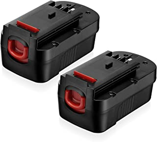 18 Volt HPB18 Replacement Battery Compatible with Black and Decker 18V HPB18 HPB18-OPE 244760-00 A1718 FS18FL FSB18 Firestorm Black and Decker 18 Volt Battery 2 Pack