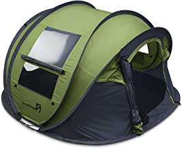 Overwhelming 2019 New 3-4 Person Automatic Pop up Camping Tent Waterproof Lightweight Dome Tent Mesh Doors and Windows for Camping Hiking Backpack Beach