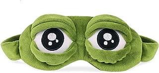 PIKAJIU 3D Eye Mask Cover Sleeping Rest Sleep Anime Funny Gift (Green)