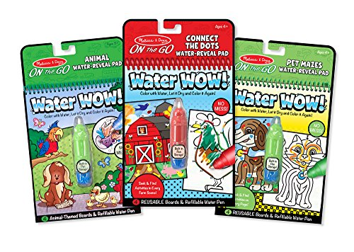 Melissa & Doug On the Go Water Wow! 3-Pack (The Original Reusable Coloring Books - Animals, Farm, Pet Mazes - Great Gift for Girls and Boys - Best for 3, 4, 5, 6, and 7 Year Olds)