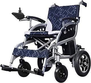 Sillas de ruedas eléctricas para adultos Silla de ruedas eléctrica accionada silla de ruedas plegable ligero de 27Kg, Sillas de ruedas motorizada Scooter conveniente for el uso del hogar y al aire lib